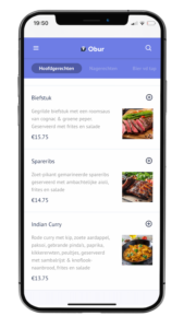 Obur app digital menu