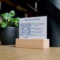 Obur QR code tafel display